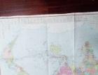 老版世界地图,中国地图,两张共一元