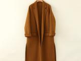 51220041大艺欧洲站高端手工定制羊毛大衣超正版型进口澳毛面