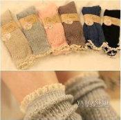 加长版 森林系堆堆袜 花边袜子 短袜 镂空棉袜 女袜