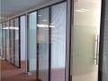 办公玻璃隔断 玻璃百叶隔断 办公高隔间 单玻隔墙
