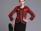 小西装女修身外套韩版女装2013新款秋装长袖西服短上衣中年爱莉姿