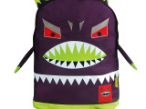 较新款 潮男 潮女 恶魔带脚设计 帆布双肩包 学生书包 背包批发