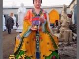 河南云峰佛像厂批发贴金后土娘娘 彩绘王母娘娘神像