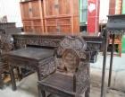 古董家具木器明清家具黄花梨紫檀罗汉床太师椅顶箱柜等转让