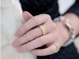 韩国饰品 想你尹恩惠ZOE同款玫瑰浮雕个性三件套戒指指环组合15