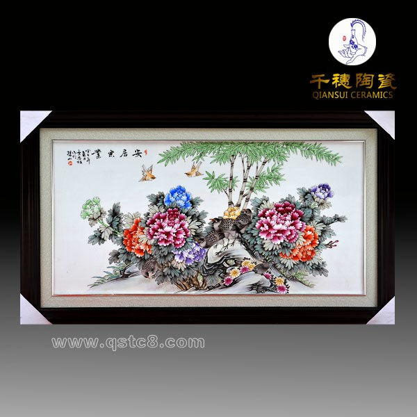 手绘青花瓷板画 青花瓷板画生产厂家