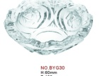 供應 廠家直銷 機器壓制玫瑰鈉鈣玻璃煙缸 煙灰缸