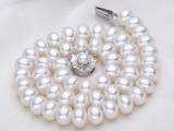 10-11mm奢华珍珠项链 诸暨天然淡水珍珠项链批发 强光微瑕低