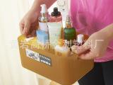 厂家直销 轻松熊桌面化妆品收纳盒 浴室护肤品塑料办公创意盒