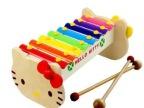 木制玩具 外贸原单 猫咪八音实木制敲琴 儿童益智玩具