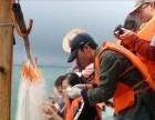 南澳岛特色好玩旅游线路之渔家乐游艇休闲撒网捕鱼