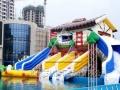 水上乐园设备滑梯支架水池充气水池水上浮具冲关低价出售
