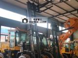 四驱越野叉车实心轮胎恶劣路况适用山东生产厂家宁津中首重工L