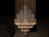 迈博 现代时尚水晶复式楼梯灯具 方形大型酒店工程水晶吊灯 X26