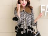 欧美女外套 日韩女装 小香风 高档毛呢外套 阿里巴巴女装批发代发