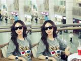 2014韩国新款短袖夏大码宽松T恤连衣裙3D眼镜老虎头