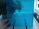 pc耐力板雨棚 湖蓝透明 颜色多选 抗冲击