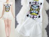 2014夏新款彩色印花圆领背心+短裤时尚套装微信淘宝一件代发