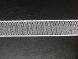 【厂家批发直销】15MM超薄/白色尼龙/网状银线/网孔织带