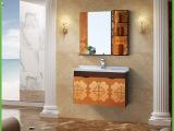 高档洗漱台盆组合柜 新款不锈钢浴室组合柜 一体挂墙卫浴柜