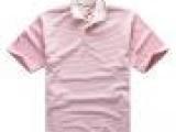 时尚男式休闲短袖t恤外贸 金雨伞品牌男士t恤 条纹POLO款t恤