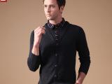 A 一件代发 假两件衬衫领针织衫 格子领 休闲套头毛衫代理加盟