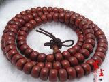 古尘工艺印度 高油密小叶紫檀108佛珠手链苹果珠