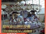 大型游乐设备旋转木马价格 郑州豪华转马色泽鲜艳