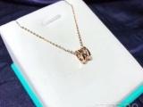 新品宝家18K玫瑰金转运珠项链镂空大牌