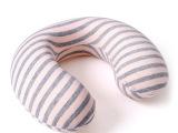 雅家惠 慢回弹U型枕条纹头护颈枕护脖子颈椎保健枕旅行记忆午睡枕