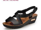 香港红蜻蜓夏季时尚凉鞋 真皮品牌女鞋批发 厂家直销两用凉拖鞋