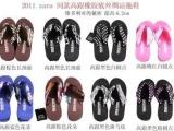 ZARA同款丝绸带高跟 坡跟凉拖鞋 人字