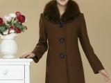 2013新款女装呢子大衣 韩版风衣外套冬装中老年女羊毛大衣批发L