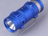 厂家直销三光源强光照明电筒  自带饵灯强光钓鱼灯户外照明手提灯