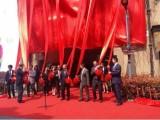 揭牌揭幕架 揭牌道具 揭牌仪式 招牌红布红花