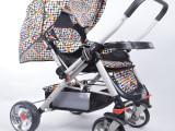 厂家直销 高景观婴儿推车冬夏两用婴儿车可拖行宝宝车超强避震