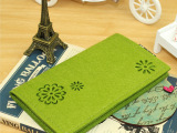 纯色镂空长款钱包毛毡包 女士钱包三折多卡位 手拿包韩版女潮创意