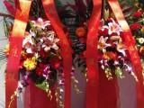 深圳鲜花同城速递 开业庆典花篮 惊喜后尾箱制作 气球花艺