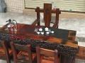 泰安市老船木家具茶桌椅子沙发茶台茶几办公桌餐桌鱼缸置物架案台