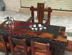 岳阳市老船木家具茶桌椅子沙发茶台茶几办公桌餐桌鱼缸置物架案台