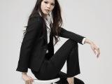 摩登秋冬女职业西装长袖套装修身西服女式正装工作服职业女装套装