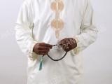 阿拉伯大袍穆斯林男士长袍巴服长袖绣花套装