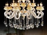 欧式蜡烛水晶灯客厅水晶吊灯 玉石锌合金灯 餐厅吊灯 灯具灯饰