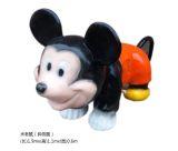 仿真动漫卡通米老鼠骑行车儿童硅胶广场四轮滑行车米老鼠电瓶车