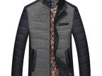 2014男装冬款中年男式棉衣外套 加厚棉服男 毛领夹棉外套男批发