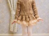 童装 厂家批发 欧根纱新款女童蓬蓬裙 毛衣裙公主打底裙 冬季童裙
