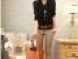 2011 新款 牛仔腰拼接休闲裤(带皮带)女装代销广州服装代理批