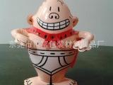 厂家专业生产pvc充气小超人玩具 充气儿童玩具超人 广告促销品