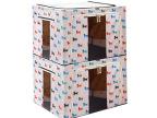百易特牛津布收纳盒百纳箱钢架棉被子衣物收纳箱两件套整理储物箱