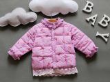 2015童装女童冬装卡娃屋儿童棉衣小童羽绒棉内胆宝宝外套碎花高领
